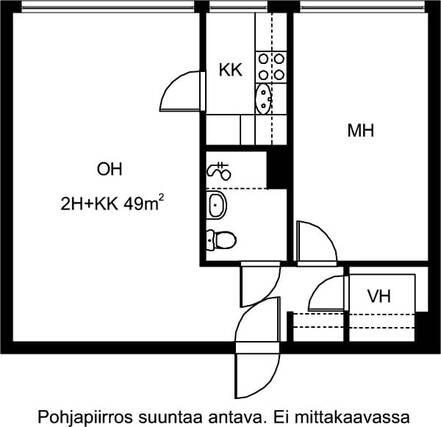 Vuokrataan Kerrostalo Kaksio Espoo Karakallio Kotkatie 6