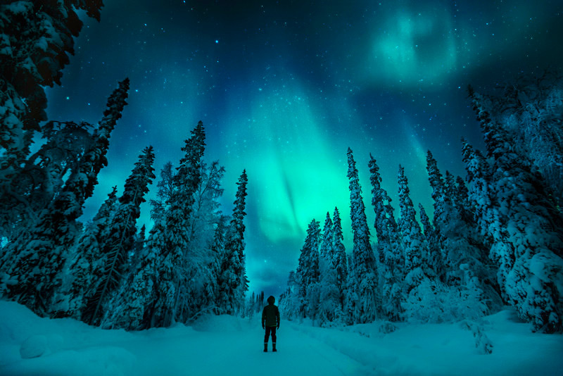Northern lights Finland Lapland