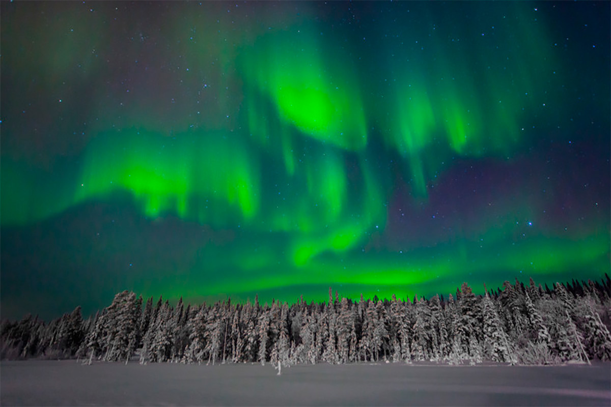 Northern lights Ylläs Finland