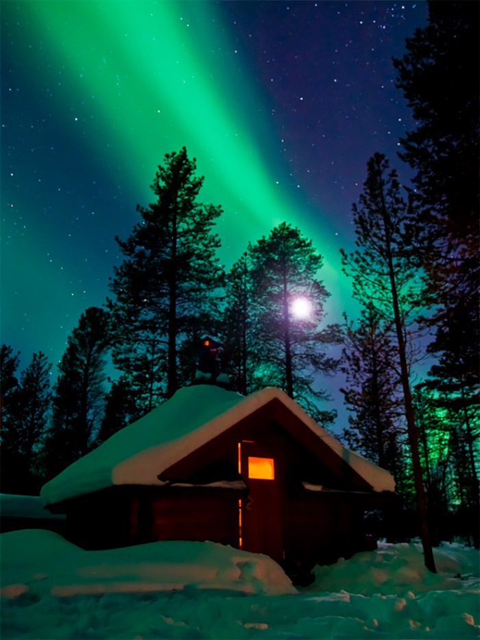 Northern lights Finland