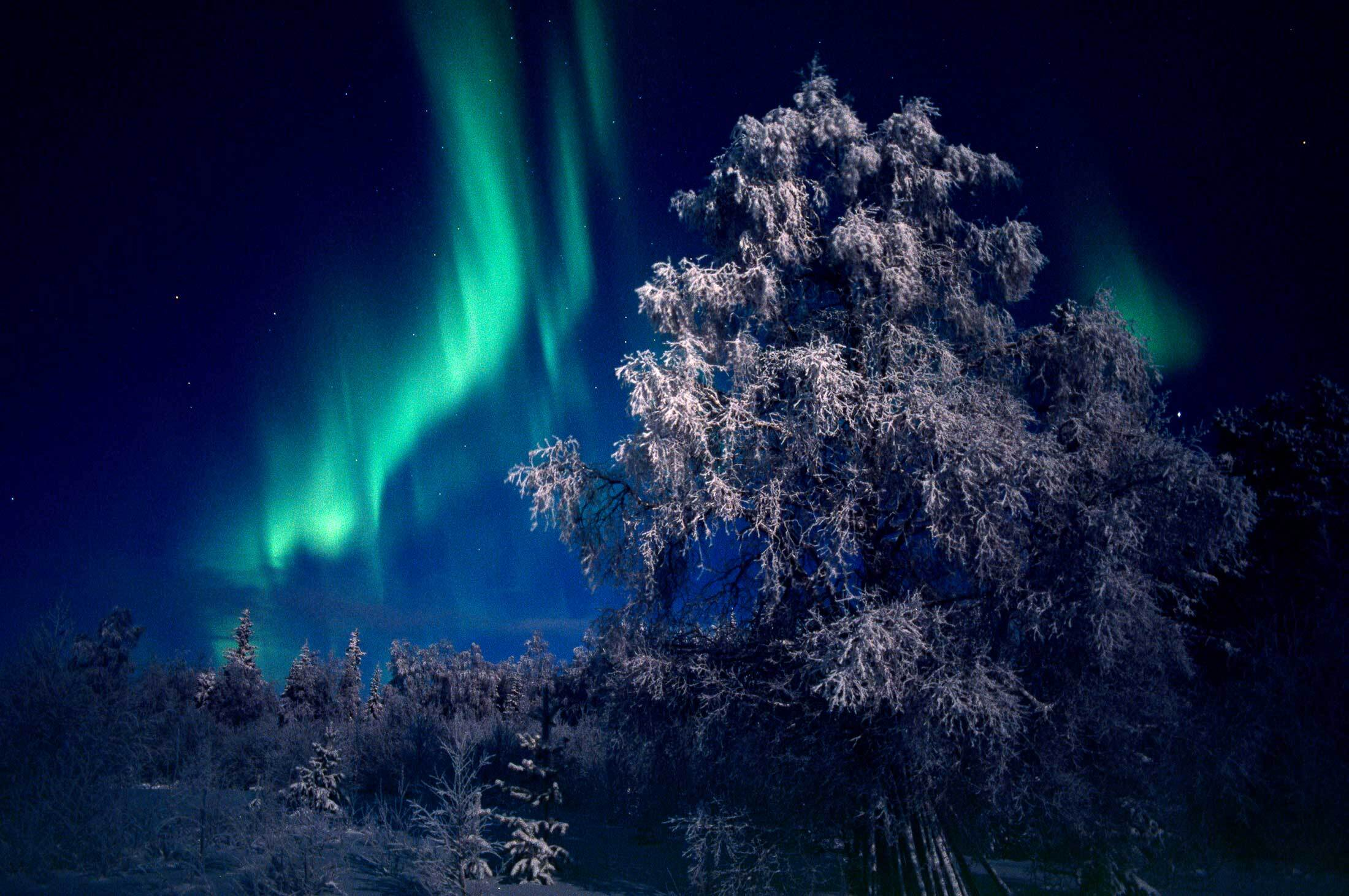 Northern lights Levi Finland