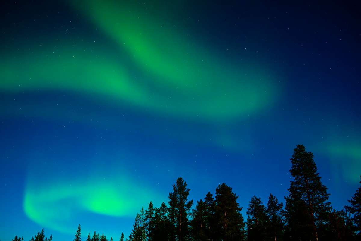 Northern lighst in Luosto Finland